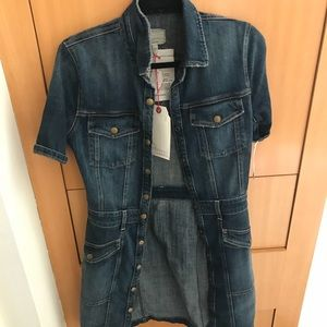 Current Elliott denim The Trucker dress 6/8 NWT